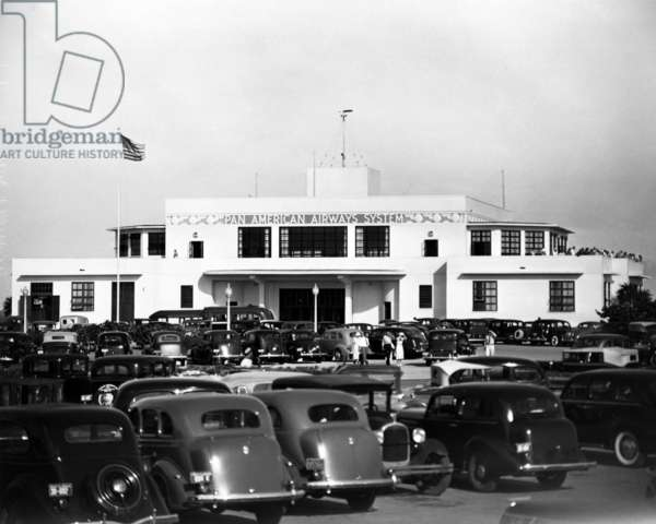 The Pan American terminal building at Dinner Key, c.1936 (b/w photo)