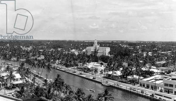 Fort Lauderdale's skyline, 1953 (b/w photo)