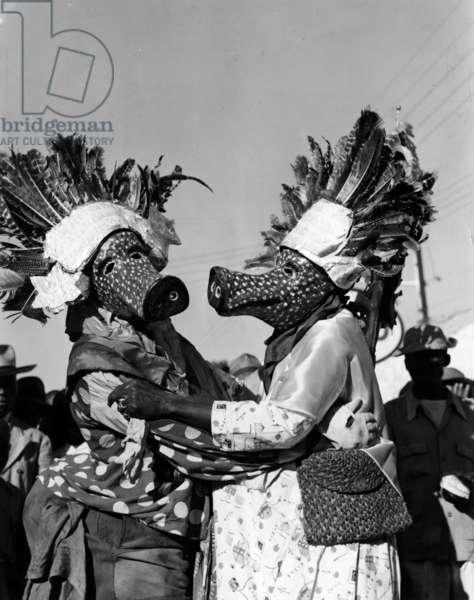 Carnival in Haiti, 1951 (b/w photo)