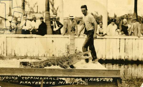 Henry Coppinger at Coppinger''s Tropical Garden, Miami, c.1925 (b/w photo)