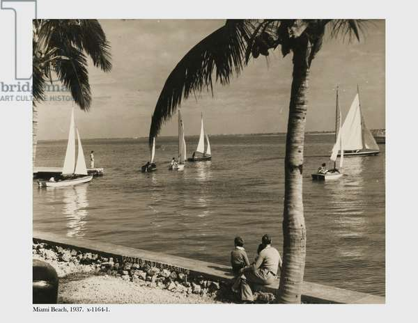 Miami Beach, 1937 (b/w photo)