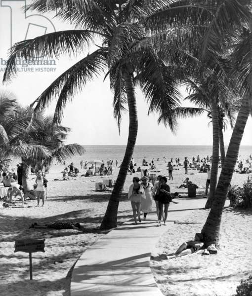 Lummus Park Beach, Miami Beach, 1937 (b/w photo)