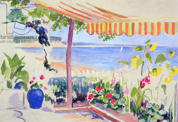 View of the Basin of Arcachon (gouache on paper)