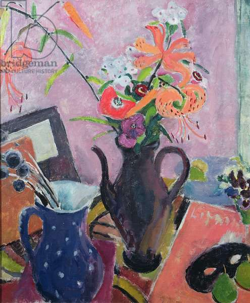 Tiger Lillies (oil on canvas)