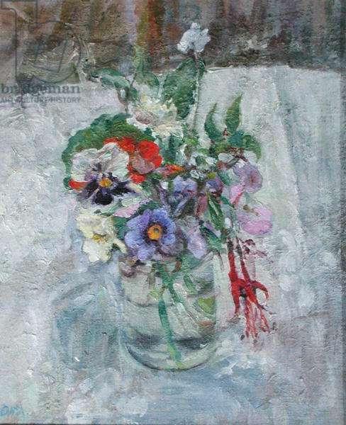 Flowers in October (oil on board)
