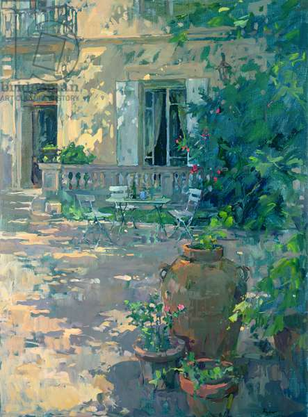 Terrace with Urns (oil on canvas)