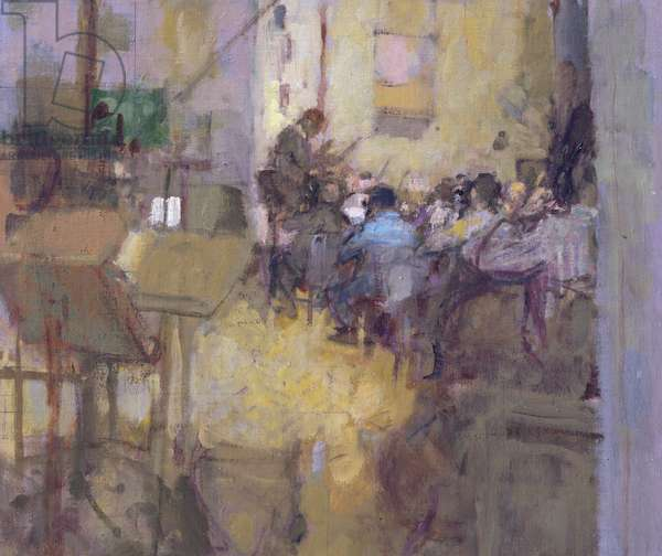 A Rehearsal at Maida Vale (oil on board)