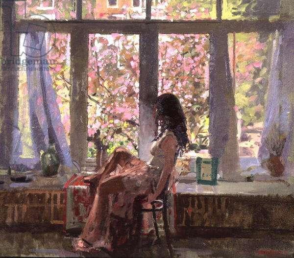Paula, Blossom Time (oil on canvas)