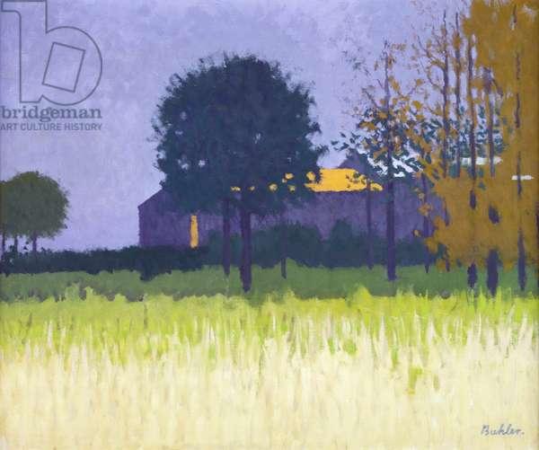 Farmhouse Amagansett, Long Island (oil on canvas)