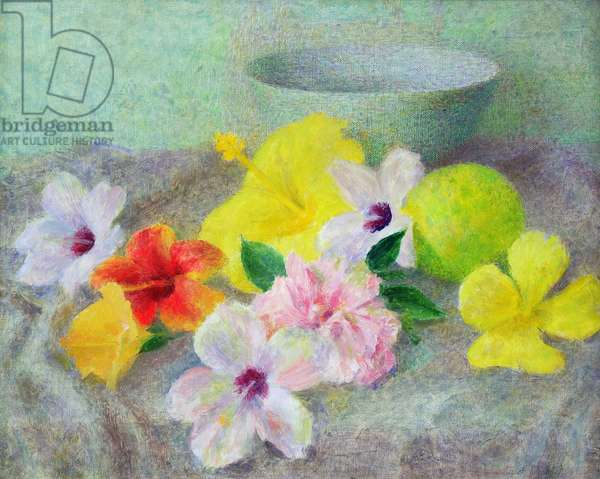 Hibiscus, 1957 (oil on canvas)