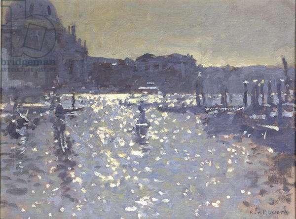 Evening Light, Venice (oil on canvas)