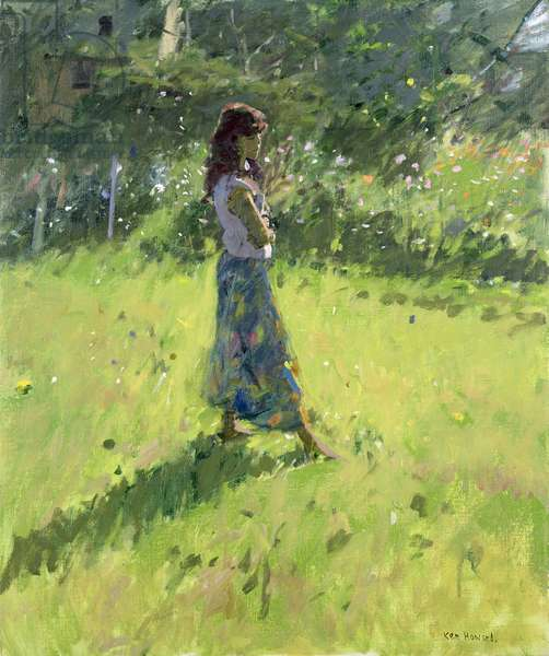 Sarah in the Meadow (oil on canvas)