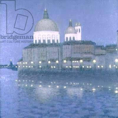 Venice by Night (oil on board)