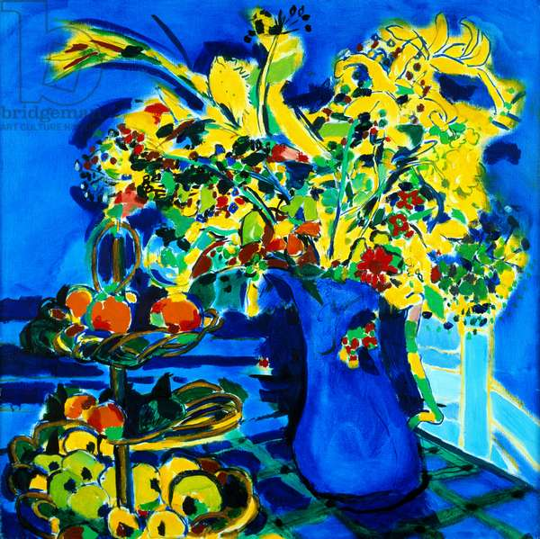 Flowers for Thomas Carlyle House (oil on canvas)