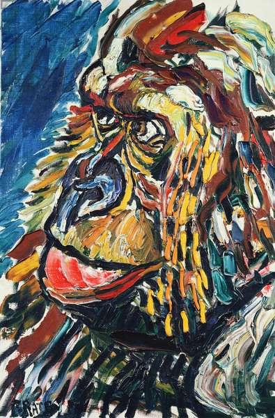 Guy the Gorilla (oil on canvas)