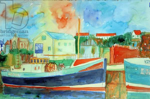 Fishing Harbour (w/c on paper)