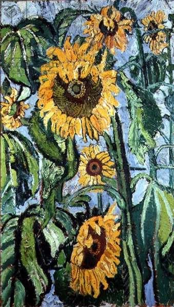 The Sunflowers of Gargantua, c.1980 (oil on canvas)