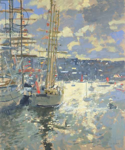 Tall Ships, Falmouth (oil on canvas)