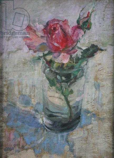 Rose (oil on board)