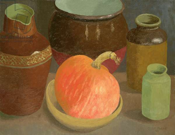 Pumpkin and Pots, 1968 (oil on canvas)