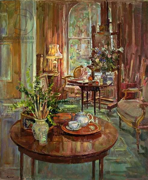 The Studio Lamp (oil on canvas)