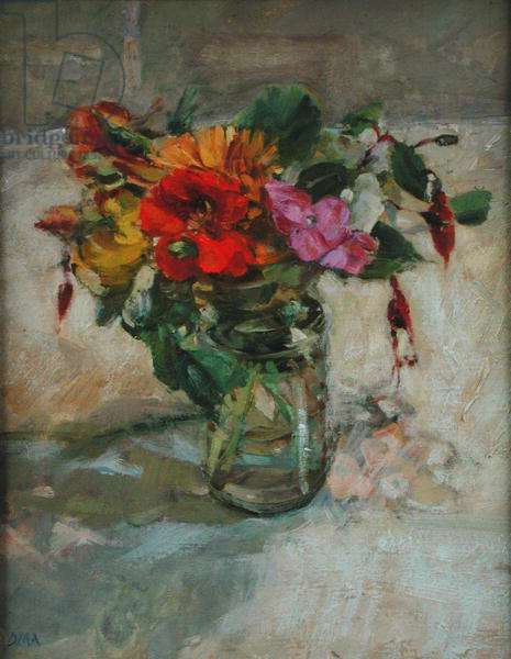 Flowers from the October Garden (oil on board)