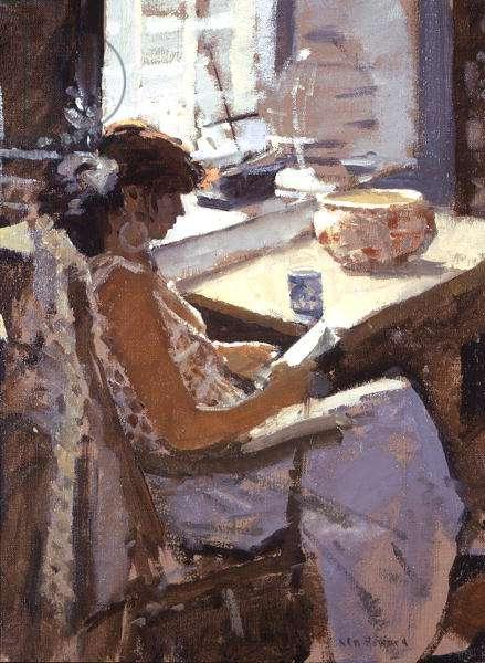 Dora Reading (oil on canvas)