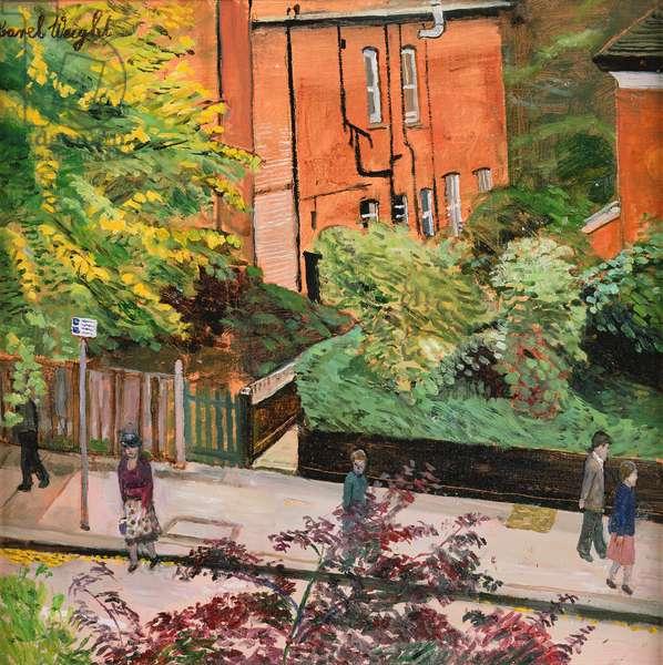 From the Studio Window (oil on board)