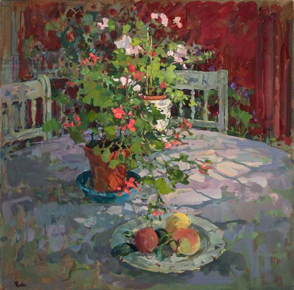 Conservatory Table (oil on canvas)