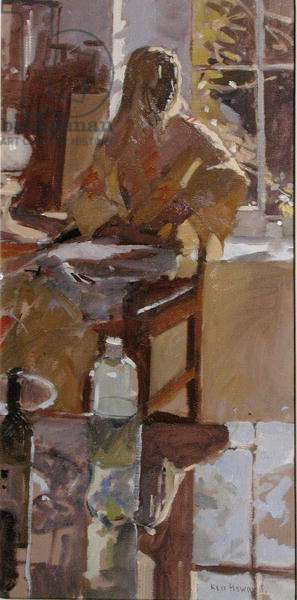 Lliani and the Yellow Kimono (oil on canvas)