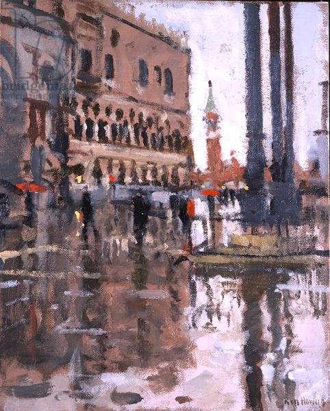 March Winds, Venice (oil on board)