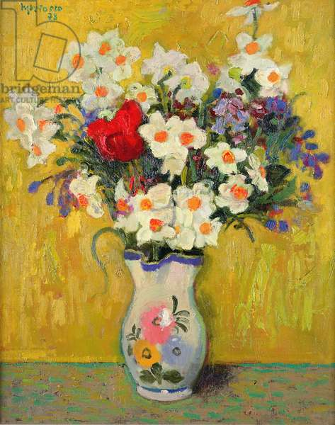 Spring Flowers, 1978 (oil on canvas)