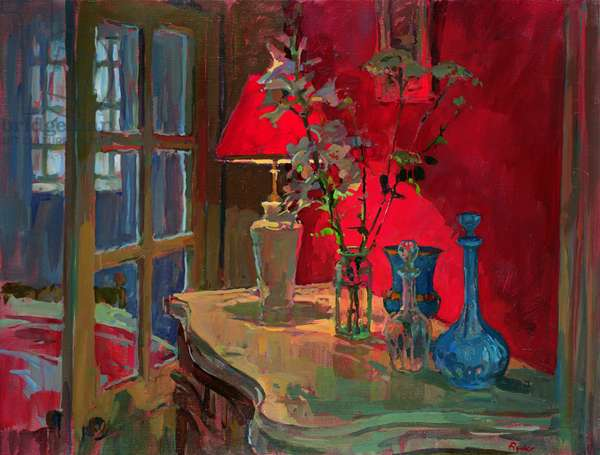 Red Lamp (oil on canvas)