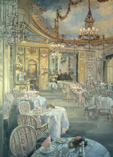 The Ritz Restaurant (oil on canvas)