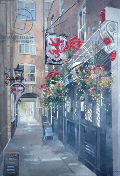 The Red Lion, Crown Passage, St. James's, London (oil on canvas)