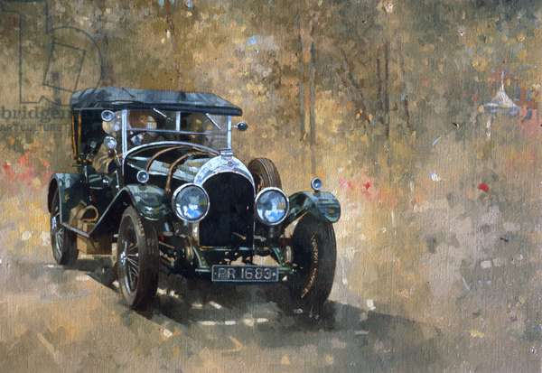 3 Litre Bentley at Cottesbrooke (oil on canvas)