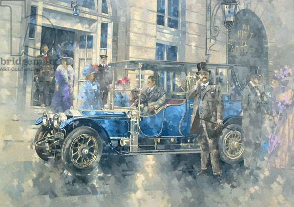 Outside the Ritz (oil on canvas)