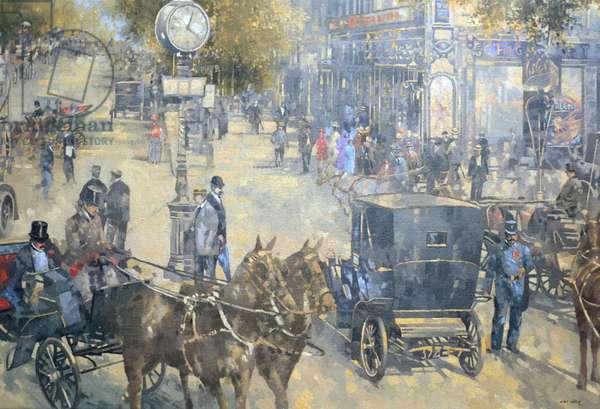 Carrefour Dronot, Intersection, Paris (oil on canvas)