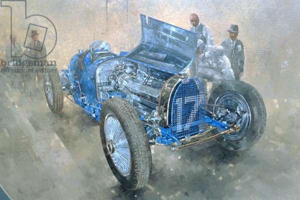 Type 59 Grand Prix Bugatti, 1997 (oil on canvas)