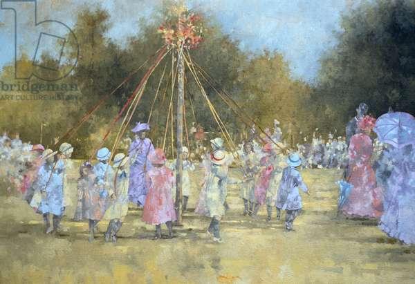 The Maypole (oil on canvas)