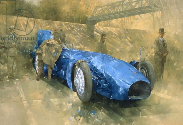 Bluebird at Brooklands (oil on canvas)