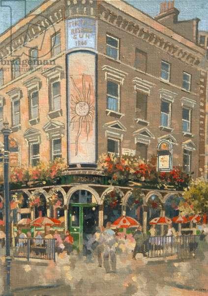 The Rising Sun, Marylebone (oil on canvas)