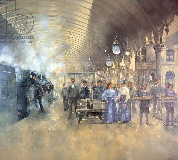 York Railway Station (oil on canvas)