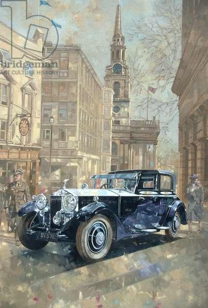 Phantom near Trafalgar Square (oil on canvas)