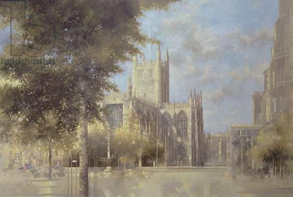 Bath Abbey, 1990 (oil on canvas)