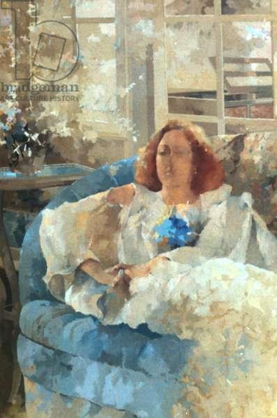 Veil of Elegance (oil on canvas)
