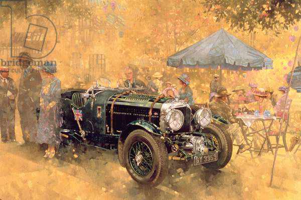 Garden Party with the Bentley (oil on canvas)