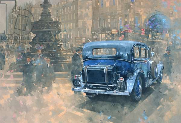 Phantom in Piccadilly (detail) (oil on canvas)