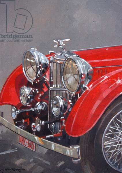 Red Sp.25 Alvis (oil on canvas)