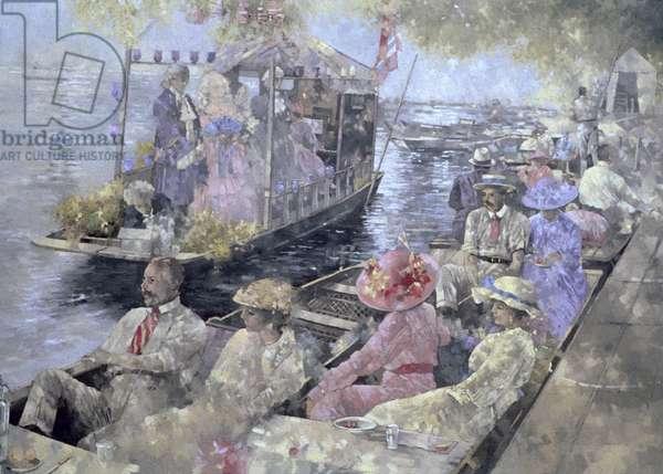 Henley Regatta, 1992 (oil on canvas)